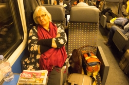 The first leg of the big trip, on the train from Bern to Geneva.