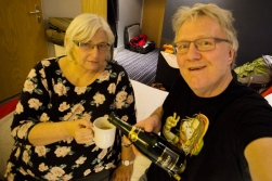 Holiday Inn Geneva: finally we had time for the Champagne celebration.