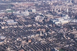 A glorious view from the plane approaching Heathrow. The QPR home ground can be seen as a blue square on the upper left.