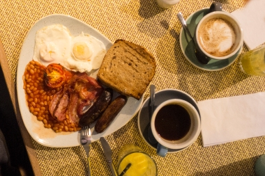 A healthy English breakfast ...