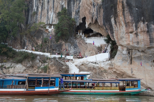 The Pak Ou Buddha Caves, not long before arriving at our destination of Luang Prabang.