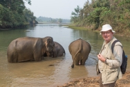 Elephants are known to have eaten peoples hats, so DHH takes great care to look after his precious 1993 model Tilley.