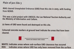 This poster tells us that on the relatively small space of site 3, one of those we visited, 22 unexploded items were destroyed when the site was cleared in 2005. But still we were told to stick to the pathways!