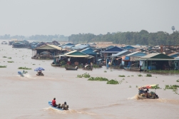 A floating village in Cambodia.