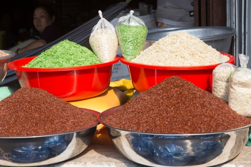 Rice in all possible colors.