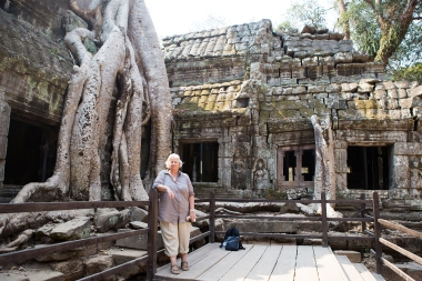 Still Ta Phrom. This was also the location for parts of the Tomb Raider movie