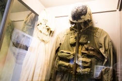 John McCain's flight suit is on display in a room that is dedicated to the captured American pilots.