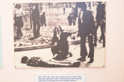 The Vietnamese war museum focuses on the resistance against the war in North America and Europe. This iconic press photo is from the Kent State University massacre in 1970, when the Ohio National Guard shot and killed four students during a protest.