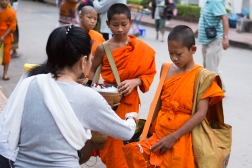 Some are quite young. The temples also take in apprentices. Luang Prabang, Laos.Luang Prabang, Laos.