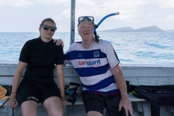 The Daughter did her PADI Open Water license at Koh Rong, so now we are buddies both under water and on the surface.