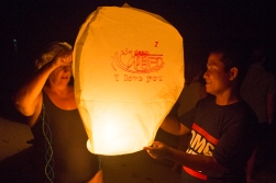 Occasionally Robbie gives out lanterns that the guests can light up and let fly into the night!