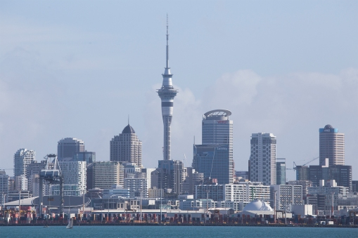 Auckland's skyline looks good and gives a better impression than the country is worth, according to some.