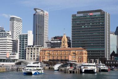 The Ferry Building was once the largest house on the Auckland waterfront, but that is no longer the case.