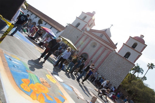 We visited the Mission in Santa Barbara where the annual I Madonnari Street Painting Festival took place.
