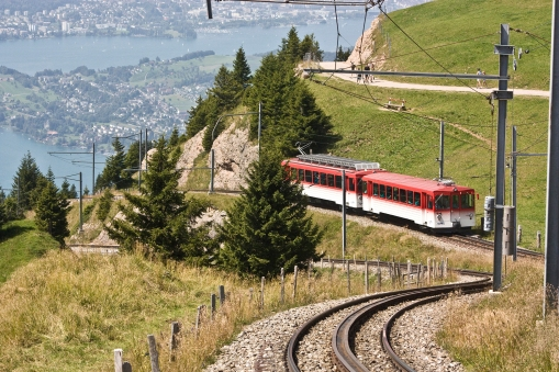From Vitznau the first cogwheel mountain railway in all of Europe was opened in 1871.