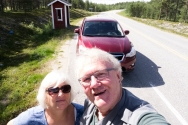 We are almost there! We used the good weather as an excuse for a roadside selfie. The next day, when we actually got to our destination, the outside use of electronic camera equipment was less recommendable.
