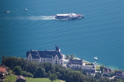 Steampaddlers are the big attraction on Lake Lucerne, the Stadt Luzern on the picture is the biggest of them.