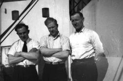 The Grandfather, far right, as an able seaman on «Finmarken» in 1946.