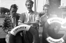 So did The Uncle, here centre, with two shipmates.