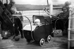 DHH on his first trip with Hurtigruten in 1954 - accompanied by his mother far right.