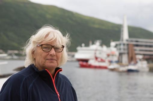 Hurtigruten in Tromsø, 2016.