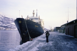 Hurtigruten in Tromsø, 1978.