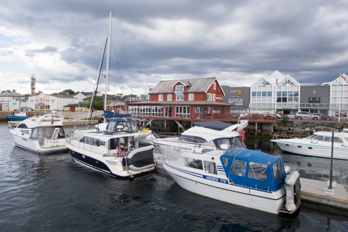 Brønnøysund has one of the best marinas along the northern coast.