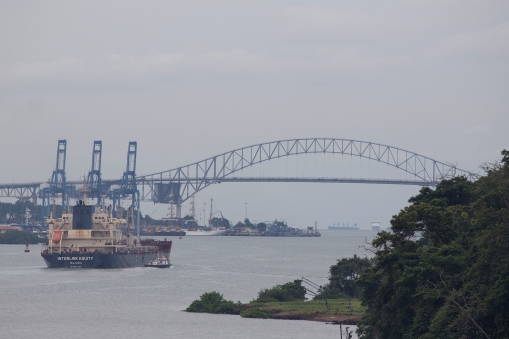The Interlink Equity heading for The Bridge of the Americas and the Pacific Ocean.