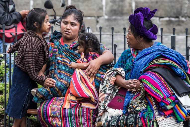 The Maya women selling souvenirs in Antigua Guatemala look as impressive in 2016 as they did when DHH was there first time in 1981.