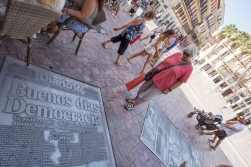 For a journalist, it is great to see the newspaper pages built into the streets of Malaga.