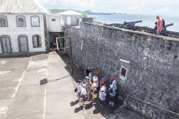 In this old fort, in 1983, Grenada's prime minister Maurice Bishop was executed against the wall to the right. As a result, the US invaded the country a few days later.
