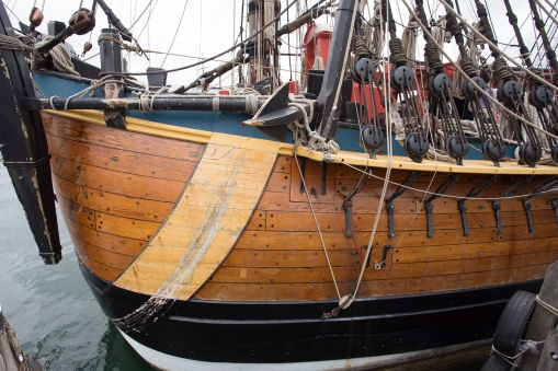 The replica is exact in all known details. The work was possible because the original drawings from the rebuilding of the vessel in 1768 still exists.