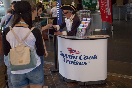 A modern day Sydney tourist cruise company has taken Captain Cook's name. Worse however, is that they also have stolen the Norwegian flag for use in their logo! DHH will forever avoid them like the plague!