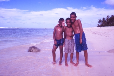 DHH met these three kids in 2000, on a beach on Rarotonga, an island very much worth a visit.