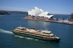 Almost as well known as the Opera house are the green and yellow Sydney Harbour ferries.