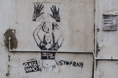 A campaign poster fighting rape. Over the last few years, sexual abuse of women in India has become world news.
