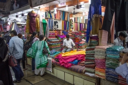 The textile market with stacks of silk that would reach from here to Timbuktu, probably several times!