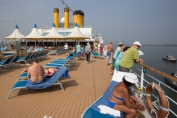 The aft sundeck somewhere in the Pacific.