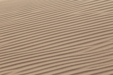 The wind makes untold numbers of different patterns in the sand, like giant fingerprints.