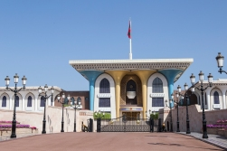 The royal palace in Muscat is for representation only; the Sultan and his family live somewhere else.
