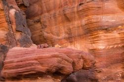 The iron in the mountains of Petra colours the stone red.