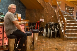 Yes, we are still on the Costa Geriatrica! By the bar were parked a number of wheelchairs, ready to take customers home if they were too drunk to walk on their own two crutches!