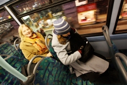 ES enjoying a bus with a view. The tube is faster, but it can harm your sightseeing!