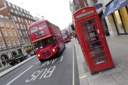 Two London icons: The red bus and the classic phone both. This bus is also a classic, The Routemaster was put on the streets of London in 1954 and is still there. Most of them are now replaced by more energy friendly models, but a few can still be seen as rolling museums.