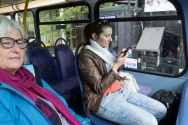 The greatest prize when you enter the bus is a seat at the front on the top floor. However, you are supposed to enjoy the view, not browse on your phone. The only acceptable reason to behave like the young lady on this picture is if you are searching the TFL website for your next ride!