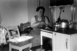 The Grandmother was the kitchen's first owner, here pictured ca 1957