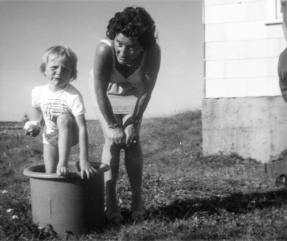 The Baby Cousin first appeared in a bucket in 1977, age 4.