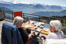 It is always nice bringing friends up on the terrace and brag about the view!