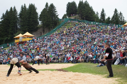 "Another procedure from last year, we had to go to the annual Rigi Schwingen, the big mountain ""wrestling"" festival."