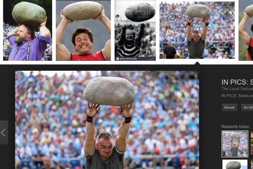 On the subject of Swiss sport - stone throwing is also a part of many Schwingen events. The stones are not standard, each event uses the same one for decades. We have not been to any of these, so we had to rip some pictures off the net.